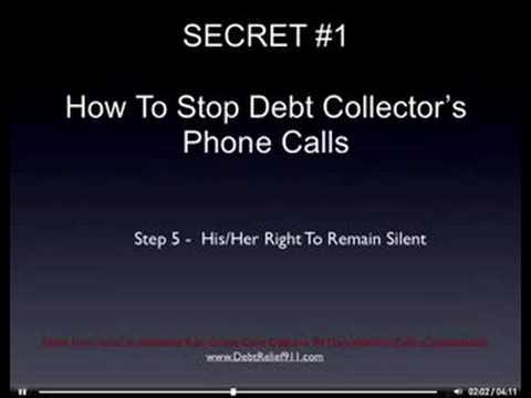 3 Simple Secrets to Stop Debt Collectors Calls Forever