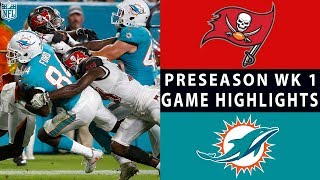 Buccaneers vs. Dolphins Highlights | NFL 2018 Preseason Week 1