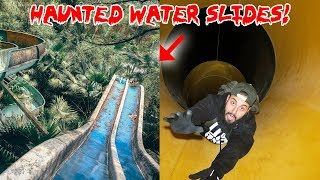HAUNTED WATER PARK 24 HOUR OVERNIGHT CHALLENGE! * A GHOST LIVES INSIDE * | MOE SARGI