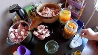 Рисовая каша с куриными бедрами в Автоклаве
