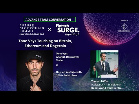 Youtuber Tone Vays interview with Future Blockchain Summit