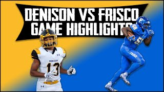 Denison vs Frisco - 2019 Week 8 Football Highlights