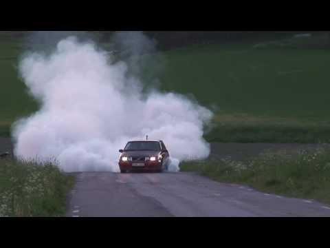 MASSIVE BURNOUT: Volvo 740 T5 with 500HP