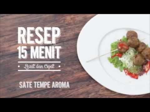 Video Resep 15 Menit - Sate Tempe Aroma