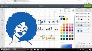 How To Customize Afro Woman Graphics For T-shirts (Cricut Design Space)