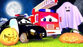 đội xe tuần tra - Dọa Ma các bé ở thành phố xe Lễ HALLOWEEN Đặc biệt - phim hoạt hình về 🚗