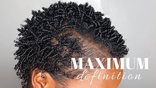 Finger Coils X Finger Coil Out For MAXIMUM Definition On Short Natural Hair | Nia Hope