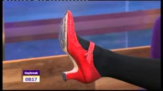 Christine Bleakley Tights Red Shoes