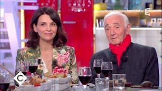 Charles Aznavour et Juliette Binoche au dîner - C à Vous - 22/09/2017