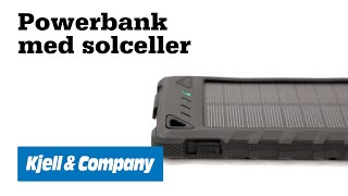Unboxing med Kjell - Vi testar en powerbank med solceller från Linocell