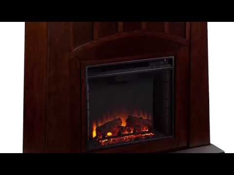 Southern Enterprises Lowery Electric Fireplace - Espresso