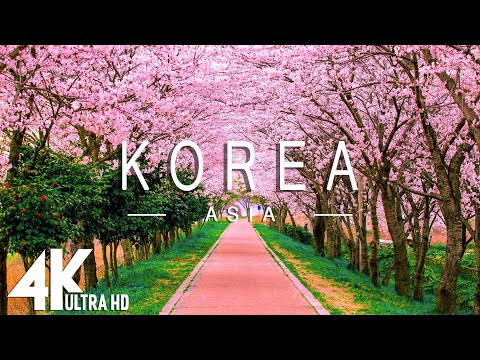 FLYING OVER KOREA (4K UHD) - Relaxing Music Along With Beautiful Nature Videos - 4K Video Ultra HD