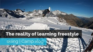 THE REALITY OF LEARNING FREESTYLE SKIING | CAMP VLOG