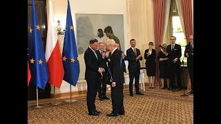 Sir Roger Scruton receives the Order of Merit from the Republic of Poland