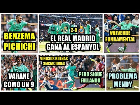 EL REAL MADRID GANA AL ESPANYOL (2-0) | BENZEMA PICHICHI | EL VINICIUS DE SIEMPRE | VALVERDE TOP