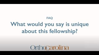 What Makes this Fellowship Unique