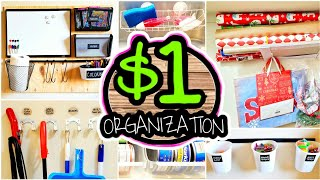 20 Dollar Store Organization Hacks & Ideas