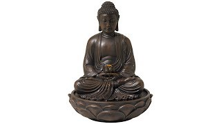 "Meditating Bronze Seated 27 1/2"" High Buddha Fountain"