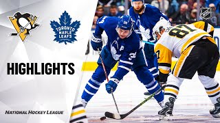 NHL Highlights | Penguins @ Maple Leafs 2/20/20
