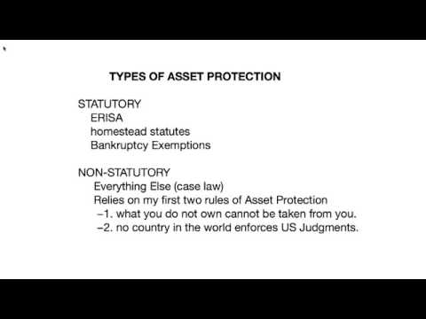 The Perfect Asset Protection Plan webinar - Asset Protection Training