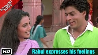 Rahul expresses his feelings - Romantic Scene - Kuch Kuch Hota Hai