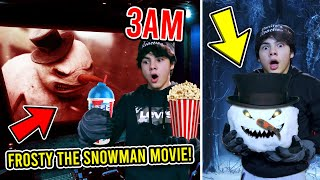 DO NOT WATCH THE FROSTY THE SNOWMAN MOVIE AT 3 AM!! (FROSTY CAME TO LIFE)
