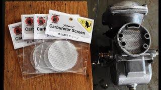 how to install a carburetor screen