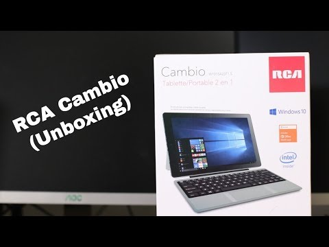 RCA Cambio 2-In-1 Notebook/Tablet Unboxing - смотреть онлайн
