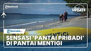TRIBUN TRAVEL UPDATE: Sensasi 'Pantai Pribadi' di Pantai Mentigi