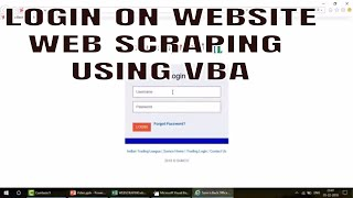 Learn Excel - Video 598 - VBA - WEB SCRAPING - How to Login on website