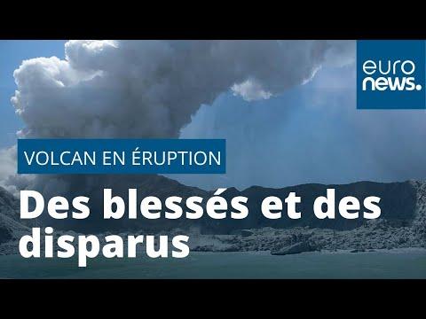 Nouvelle-Zélande : des touristes marchent sur un volcan quand il entre en éruption, des disparus