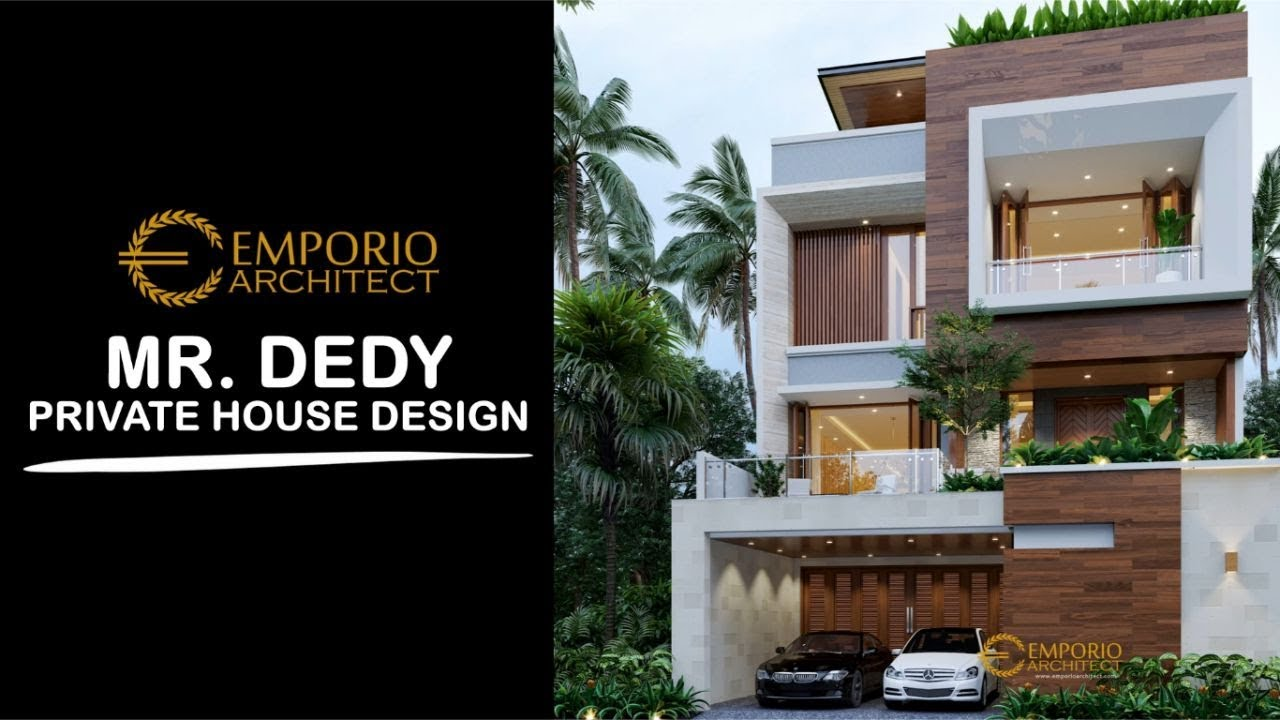 Video 3D Mr. Dedy Modern House 3 Floors Design - Jakarta