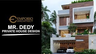 Video Mr. Dedy Modern House 3 Floors Design - Jakarta