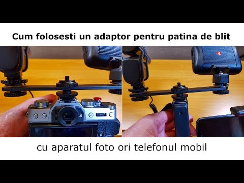 Cum folosesti un adaptor pentru patina de blit JJC MSA-11 cu aparatul foto sau cu telefonul mobil