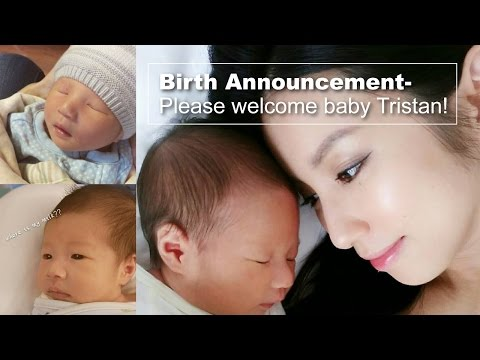 Birth Announcement-Please welcome baby Tristan