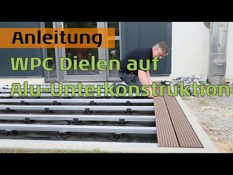 WPC Terrassendielen auf Aluminium Unterkonstruktion für hohe Beanspruchung