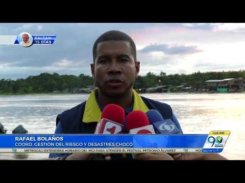 Inundaciones en ocho municipios de Chocó dejan más de 3 mil familias damnificadas
