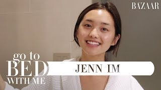 Jenn Im's Nighttime Skincare Routine | Go To Bed With Me | Harper's BAZAAR