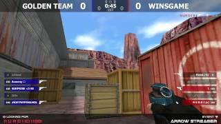 WINSGAME vs GOLDEN TEAM CS 1.6/КС 1.6 STREAM ARROW