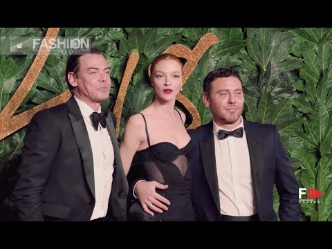 CAROLINE RUSH | NADJA SWAROVSKI & STEPHANIE PHAIR - The Fashion Awards 2018