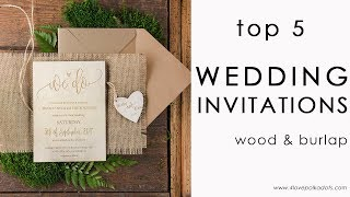 Top 5 Rustic Invitations