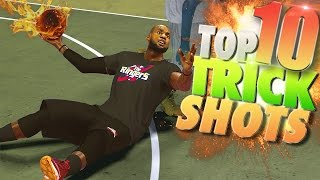 NBA 2K17 TOP 10 Rare TRICK SHOTS!