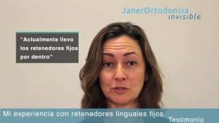 Testimonio sobre los retenedores linguales fijos