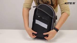 """Ранец школьный каркасный Kite K18-578S-2 от компании Интернет-магазин """"Радуга"""" - школьные рюкзаки, канцтовары, творчество - видео"""