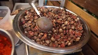 ร้านเจ้เบียร์ คนละยำ สาขา2กระบี่ เมนูเด็ดยำหอยแครงแดงเลือด สุดแซบ Yum Spicy Seafood Krabi Thailand - dooclip.me