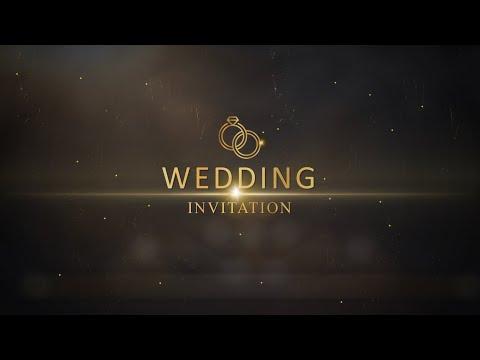 Video Wedding Invitation Gold
