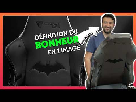 La joie de monter un siège gaming Batman (Secretlab Titan Dark Knight)