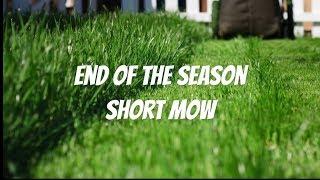 When to do end of season short mow?