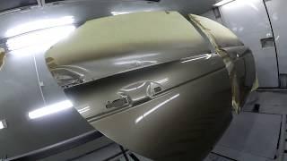 Хонда Аккорд - красим двери на новом вертеле.