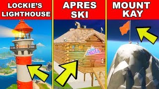 Land at Lockie's Lighthouse, Apres Ski, and Mount Kay - Location Guide (Fortnite Brutus' Briefing)